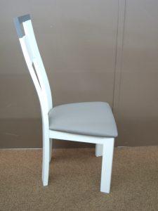Chaise salle à manger blanche et grise - côté