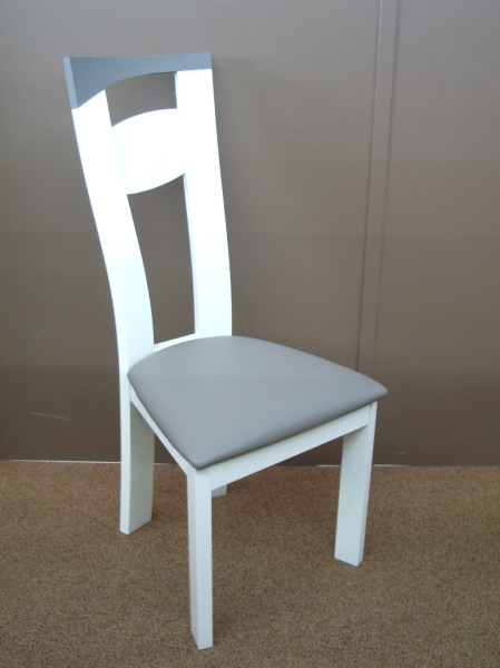 Chaise salle à manger blanche et grise