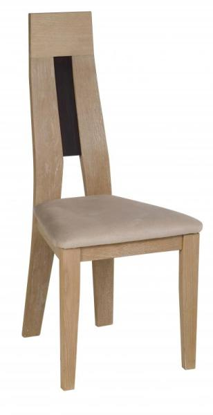 Chaise salle à manger bois assise beige