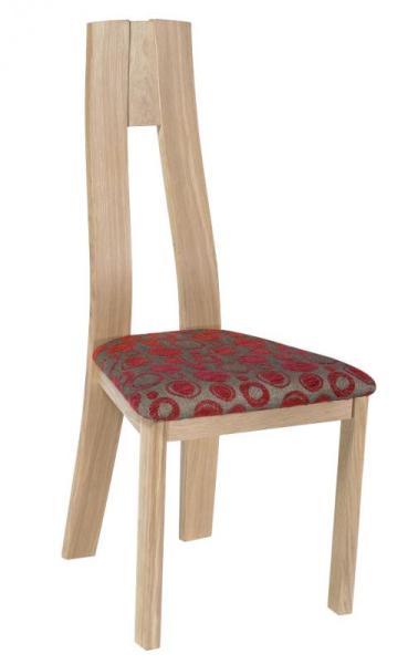 Chaise salle à manger bois assise en motif