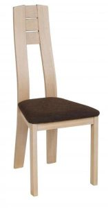 Chaise bois assise marron