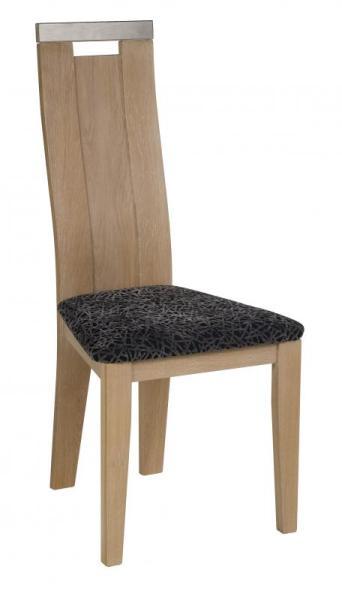 Chaise bois assise noir effet faïence