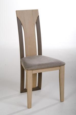 Chaise salle à manger bois dossier design