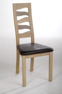 Chaise salle à manger bois dossier vague