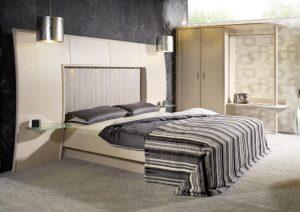 Meuble Chambre rotin avec tête de lit