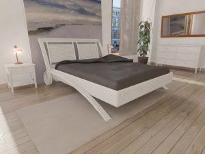 Chambre rotin blanc effet bambou