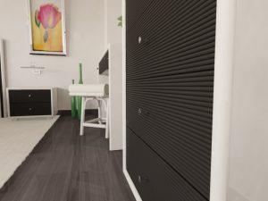 Chambre rotin blanc effet bambou - meubles