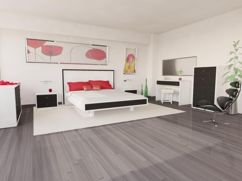 Chambre rotin moderne