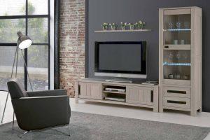 Deauville Collection Ateliers de langres - meuble TV + vitrine