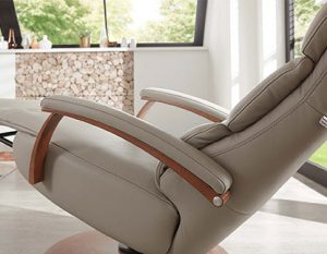 Fauteuil COSY RELAX by HUKLA beige - accoudoirs