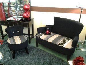 Fauteuil d'appoint salon magasin canapé