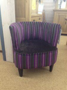 Fauteuil d'appoint vintage - violet