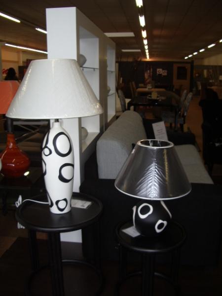 Lampe blanche et noire