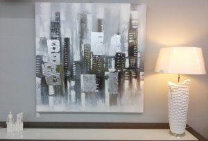 Lampe et tableau
