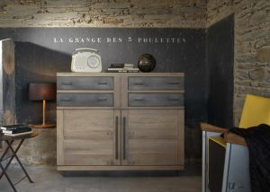 Le bahut 4 portes Factory collection Artcopi - meuble