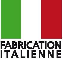 Logo fabrication italienne (blanc)