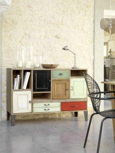 Meuble bas portes et tiroirs collection Artcopi - autre disposition
