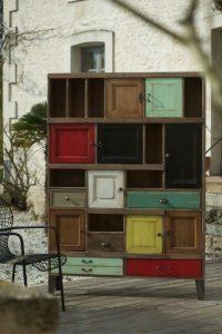 Meuble bas portes et tiroirs collection Artcopi - haut