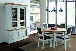 Meuble de salle à manger ROMANCE Collection Ateliers de Langres - table ronde