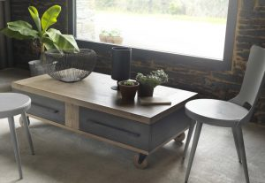 Table basse Factory collection Artcopi - 2 tiroirs