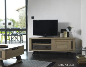 Table basse artisane Artcopi - meuble TV