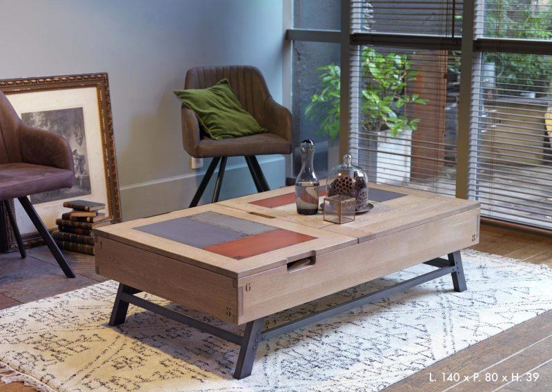 Conseil déco Table rétro rectangle