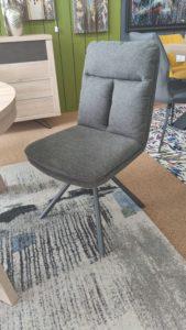 Chaise tissus gris
